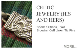 Celtic Jewelry (His and Hers) Luckenbooth Brooches, Celtic Rings, Celtic Collarettes, Celtic Earings