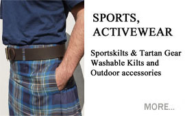 Sports and Activewear Sportskilts and Tartan Gear Washable Kilts and Outdoor Accessories