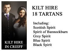 Kilt Hire Available from our Shop in Crieff. Prince Charlies, Argylls, Crail Kilt Jackets in elegant grey. House of Tartan is also an agent for Cameron Ross.